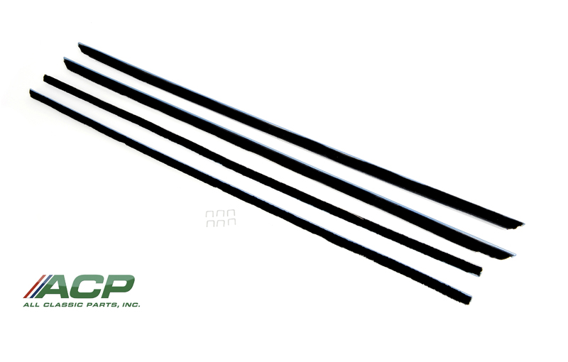 1965 - 1966 Ford Mustang Fastback Only Window Felt Weatherstrip Kit 4 Pieces NEW
