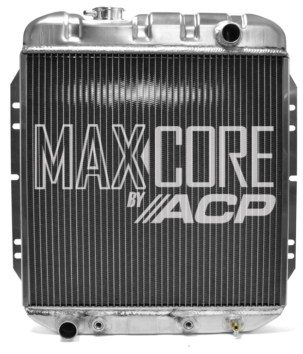 1965-66 Ford Mustang Aluminum Radiator 2 Row For 6 Cylinder Mustangs OE Style