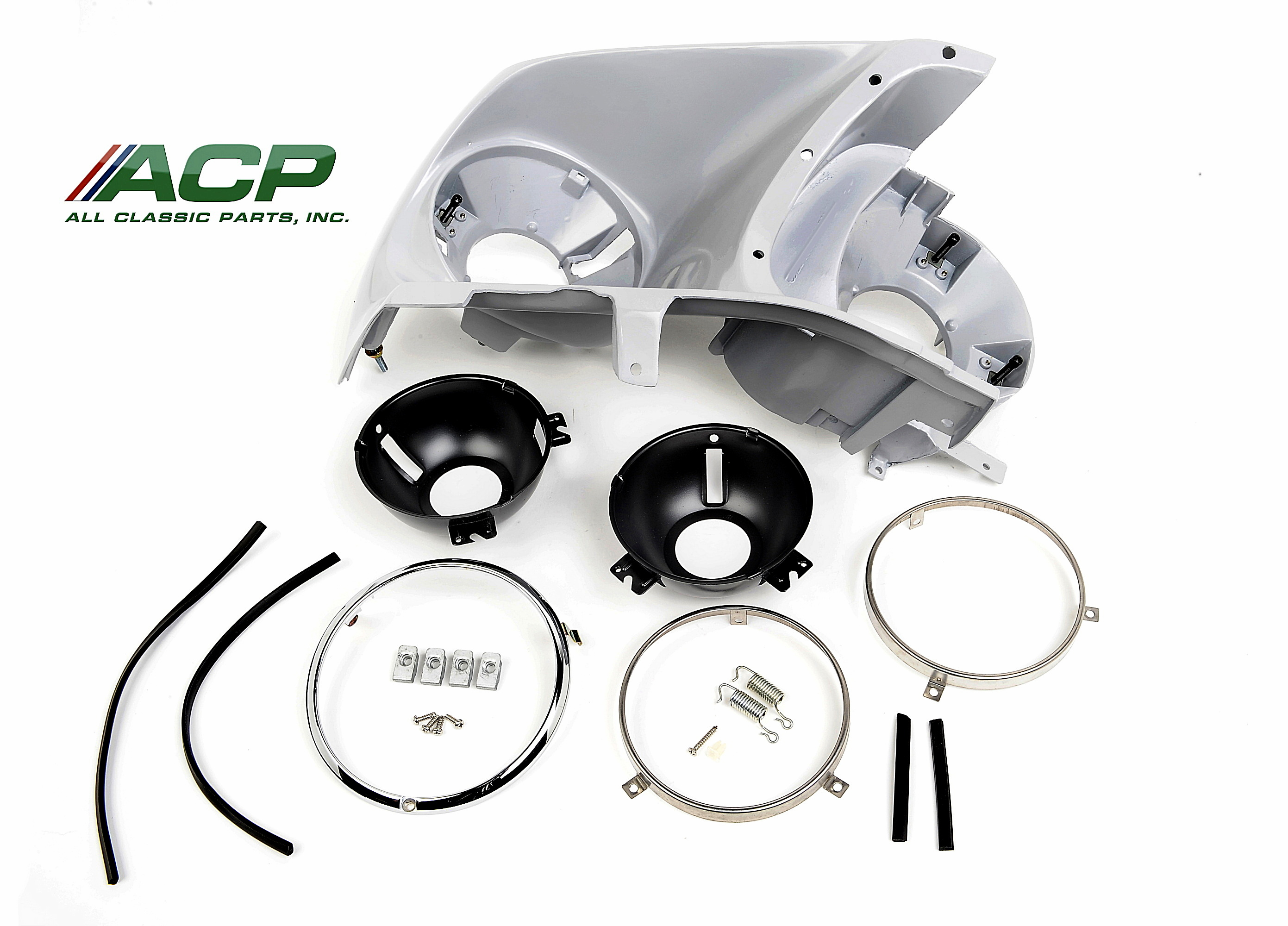 1969 Ford Mustang Headlight Assembly Kit Right Hand New Passenger Side