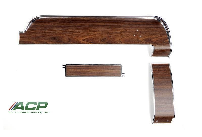 1968 Ford Mustang Woodgrain Dash Trim Set 3 Piece NEW Upper/Center/ Lower