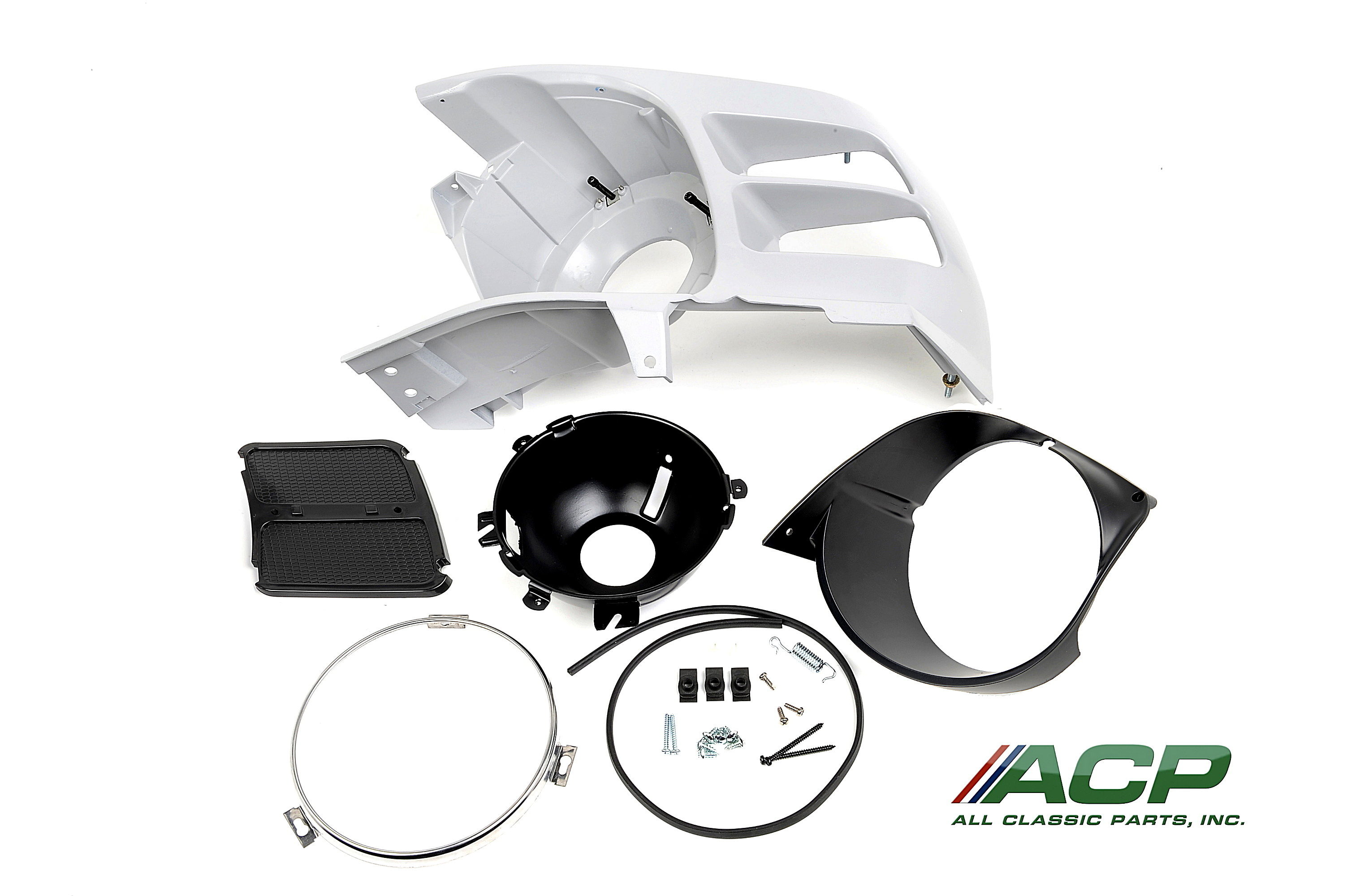 1970 Ford Mustang Headlight Assembly Kit Left Hand New Drivers Side