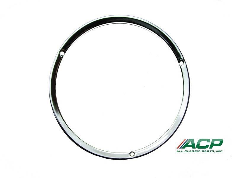 1967-1968 & 1969-70 GT Ford Mustang Chrome Headlight Door Ring One Pair
