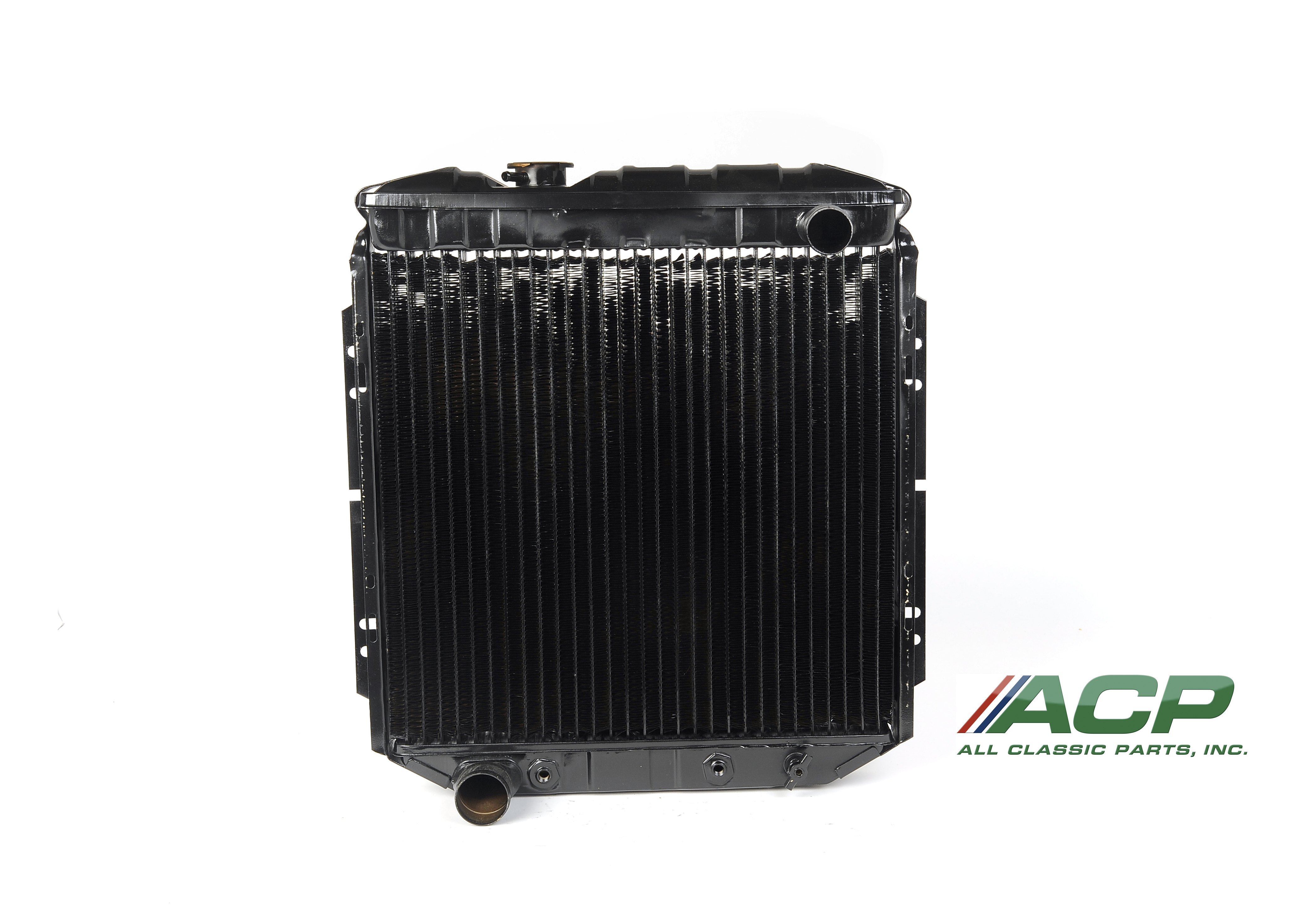 1965-1966 Ford Mustang 3 Row- Large Tube Radiator, 5.0 Conversion, LH Outlet