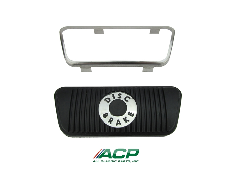 1965-67 Mustang Disc Brake Pedal Pad W / Trim For Cars Equipped With Auto Transmission
