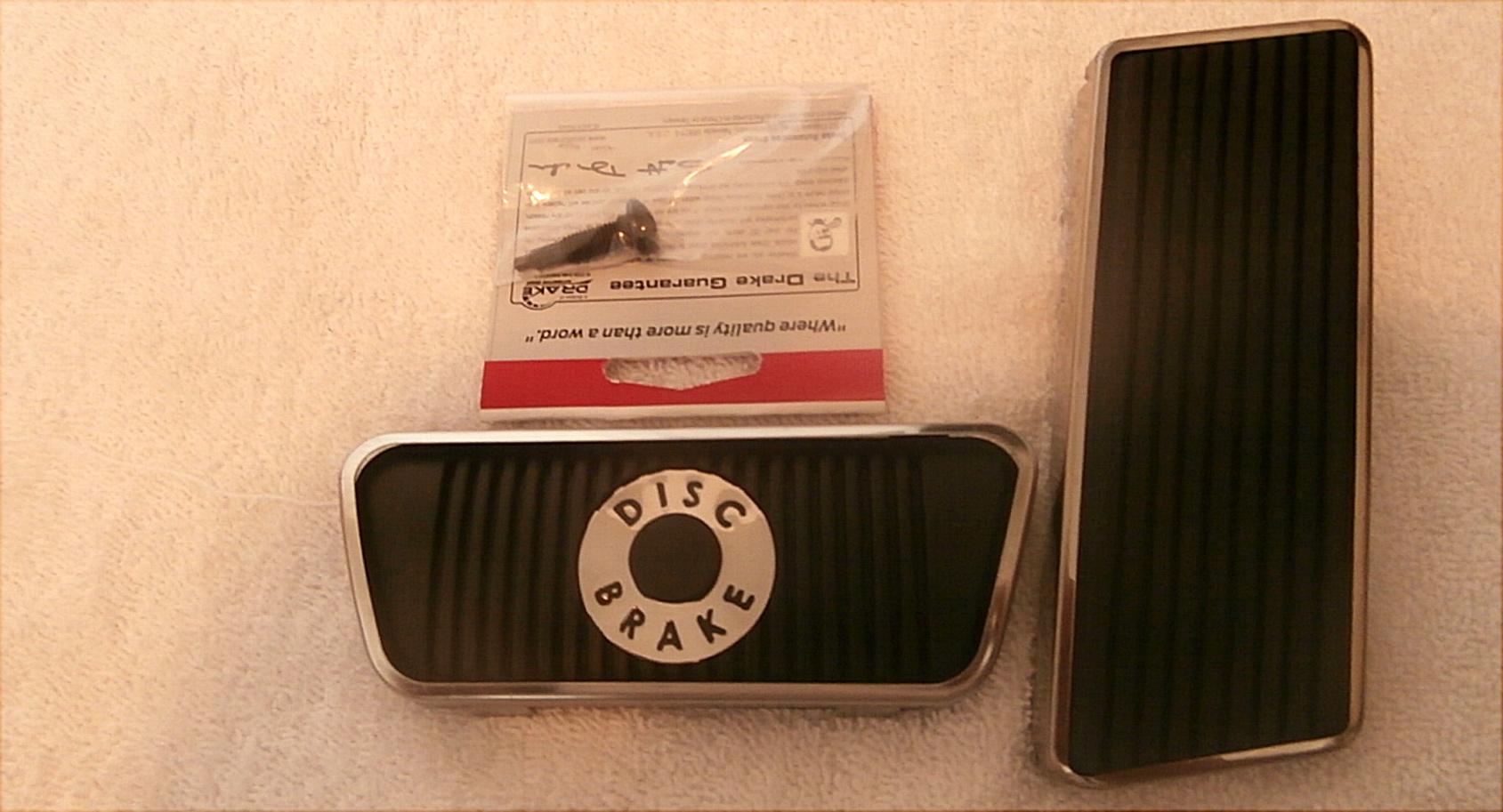 1965-66-67 Ford Mustang Disc Brake Pad, Accelerator Pedal Pad Kit W SS Trim Ring