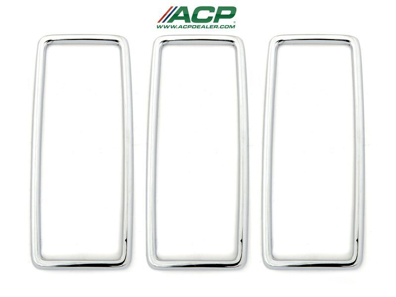 1969 Ford Mustang Tail Light Lens Trim Only, Set of 3, Fits RH or LH