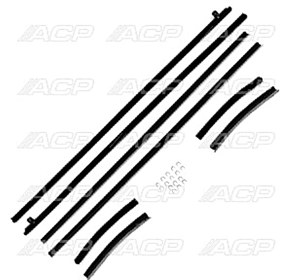 1969-70 Ford Mustang Window Felt Weatherstrip Kit Coupe & Convertible 8 Pieces