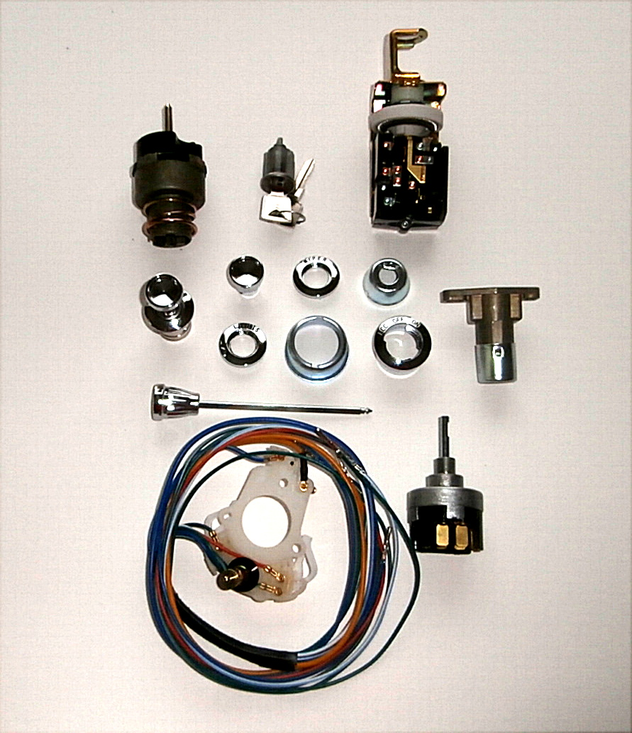 1965-66 Ford Mustang Deluxe Dash Bezel /Switch Kit 2 Spd Wiper, Light, Ign, Cig