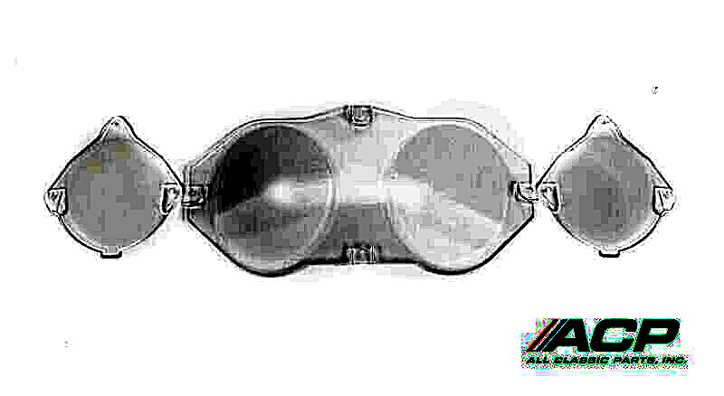 1969-70 Ford Mustang Instrument Panel Lens W/O Tachometer 3 Piece Set