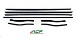 1967- 1968 Ford Mustang Window Felt Weatherstrip Kit Coupe, 8 Pieces NEW