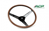 1969 Ford Mustang Deluxe Woodgrain Steering Wheel For Mach 1 Rim Blow