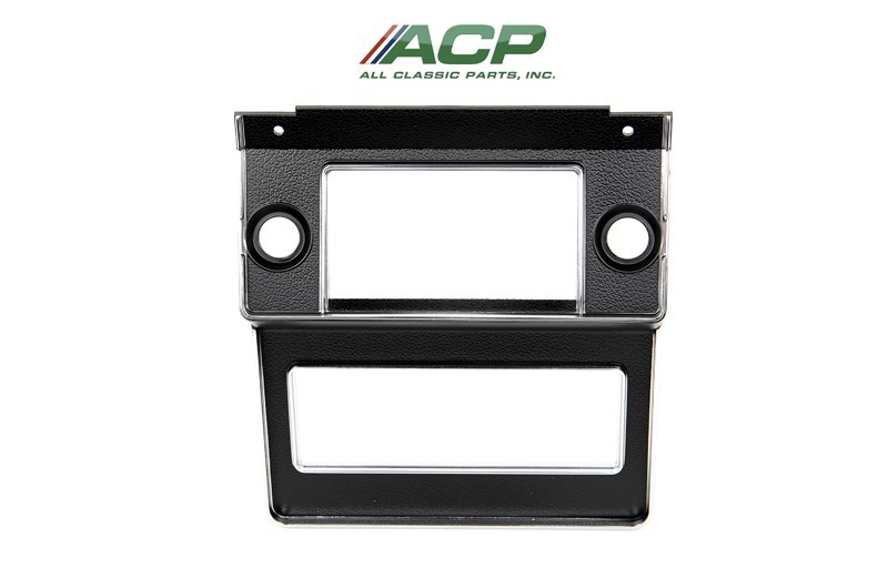 1969-70 Ford Mustang Radio Dash Bezel Brand NEW Hard to Find Item Black Color