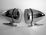 1965-68 Ford Mustang / Shelby Bullet Style Short Base Mirror Kit One Pair New