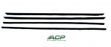 1967 - 1968 Ford Mustang Fastback Only Window Felt Weatherstrip Kit 4 Pieces NEW