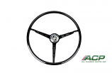 1967 Ford Mustang Standard Black Steering Wheel New High Quality Reproduction