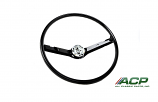 1968-69 Ford Mustang Standard Black Steering Wheel New High Quality Reproduction