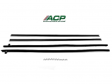 1969-70 Ford Mustang Window Felt Weatherstrip Kit Fastback, 4 Pieces